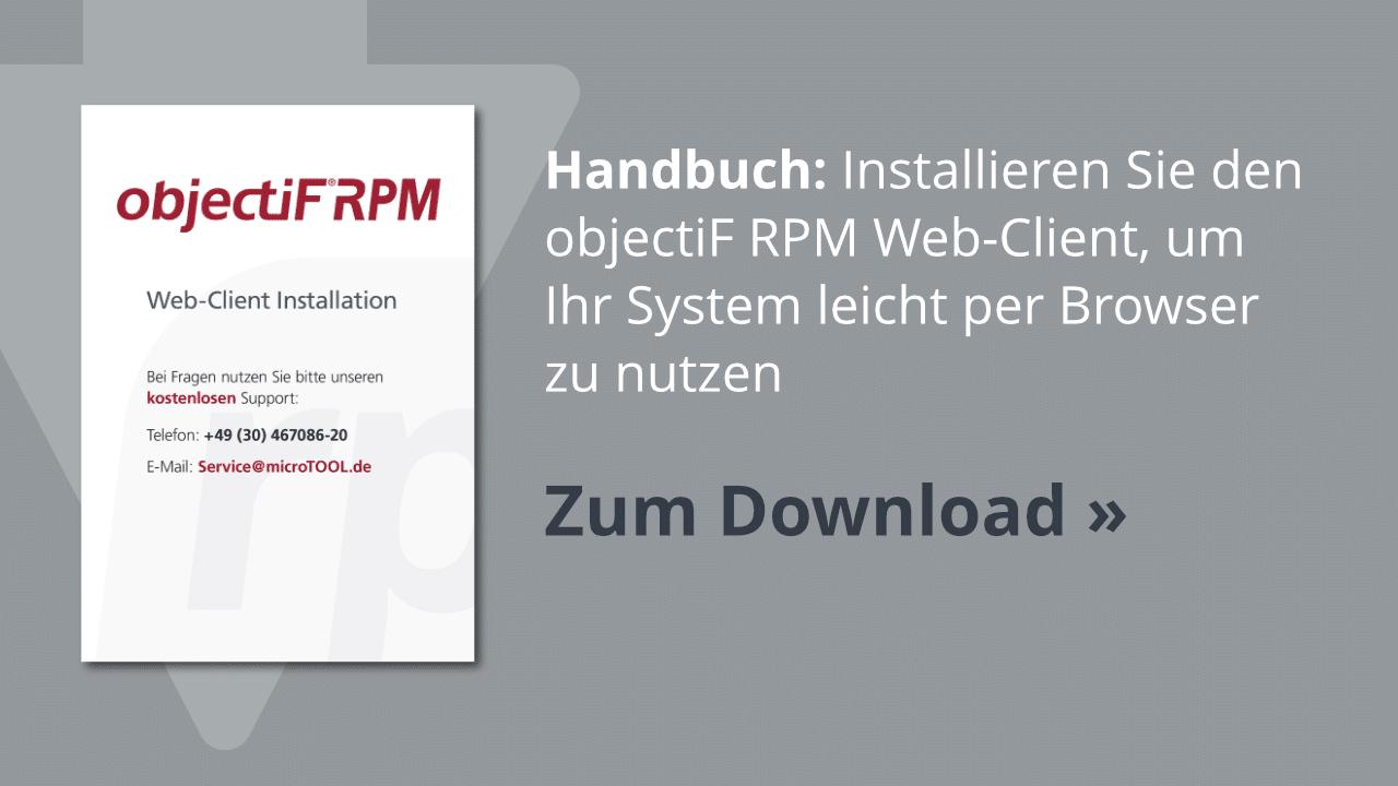 Download: Installation des objectiF RPM Web-Client