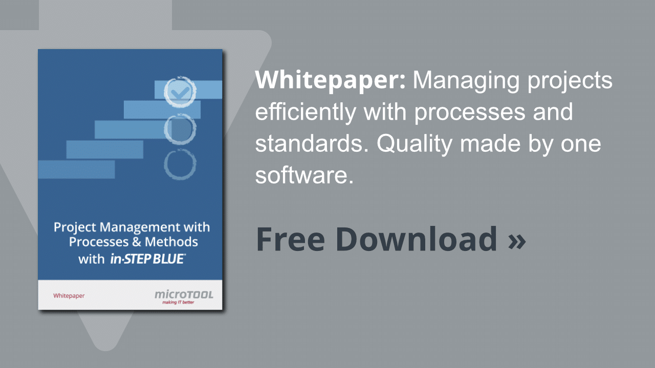 Whitepaper project management with in-STEP BLUE