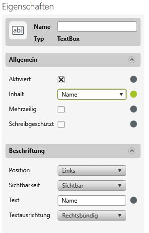 objectiF RPM - Eigenschaften der Textbox