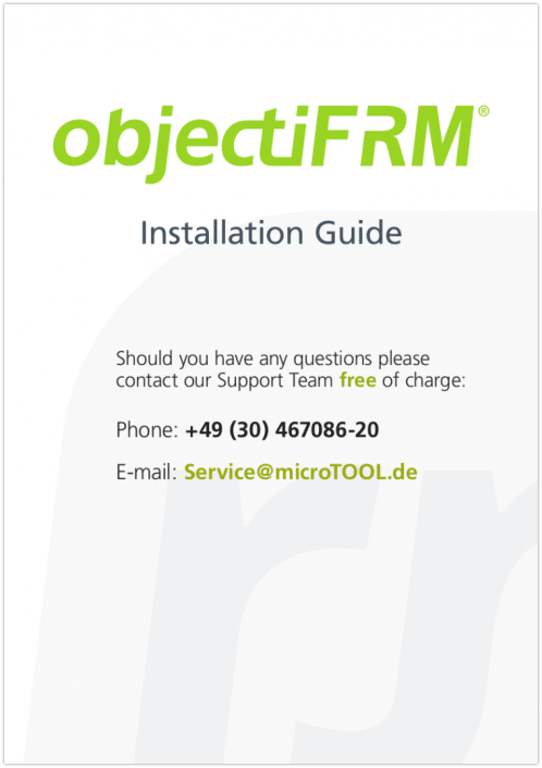 objectiF RM Installation Guide