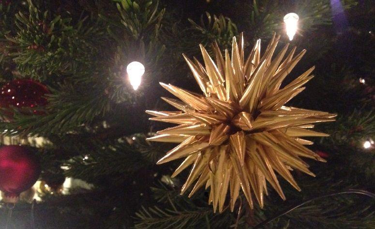 Der goldene Weihnachtsstern