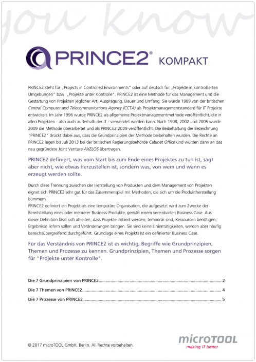PRINCE2 kompakt