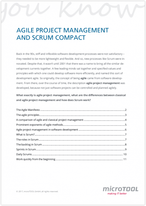 Agile Project Management and Scrum compact