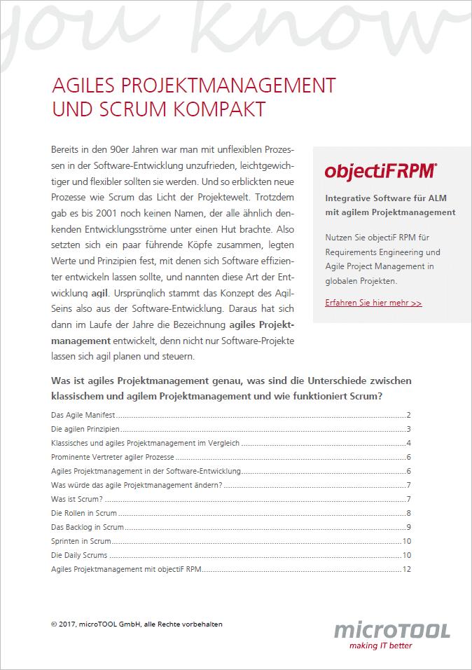 Agiles Projektmanagement und Scrum kompakt