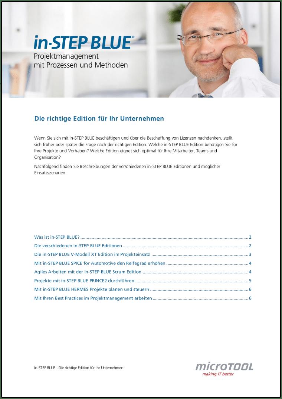 in-STEP BLUE - Die richtige Edition für Ihr Unternehmen