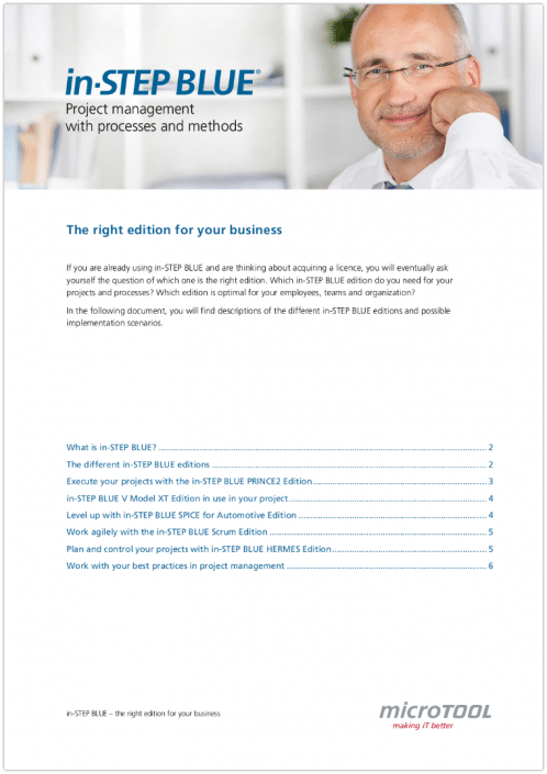in-STEP BLUE - The right edition for your business