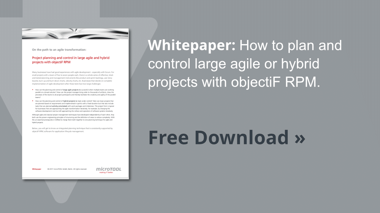 Whitepaper project planning and controlling with objectiF RPM