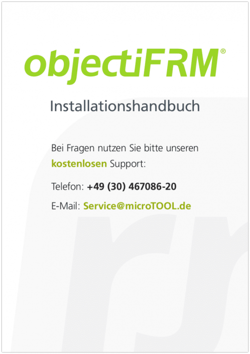 objectiF RM - Installationshandbuch