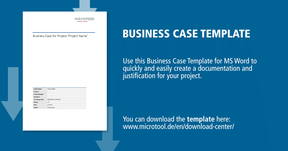 Business caes template for your project microtool accmission Gallery