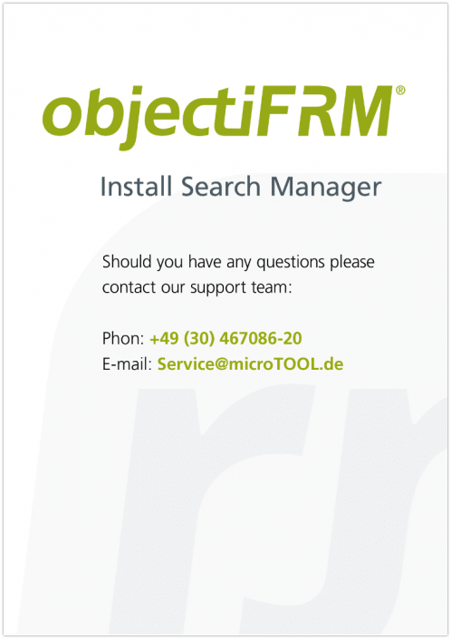 objectiF RM - Search Manager