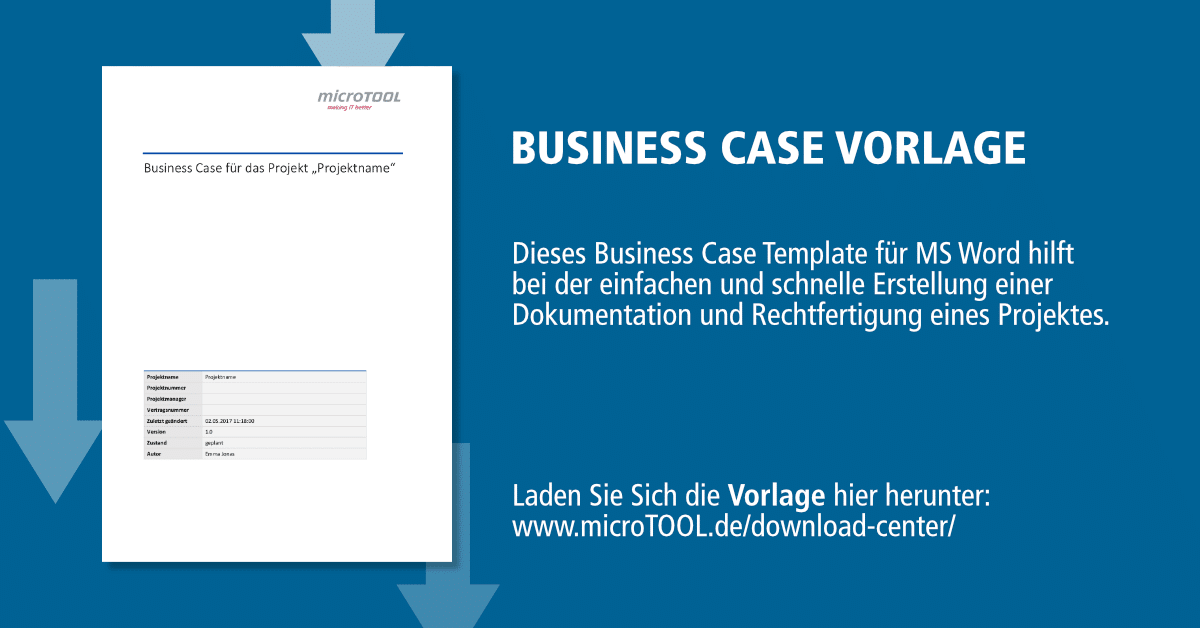 business case vorlage f r ms word microtool