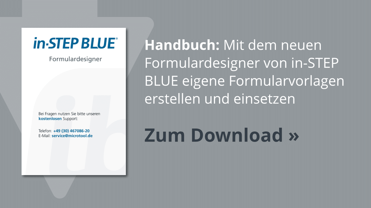Download: Der in-STEP BLUE Formulardesigner