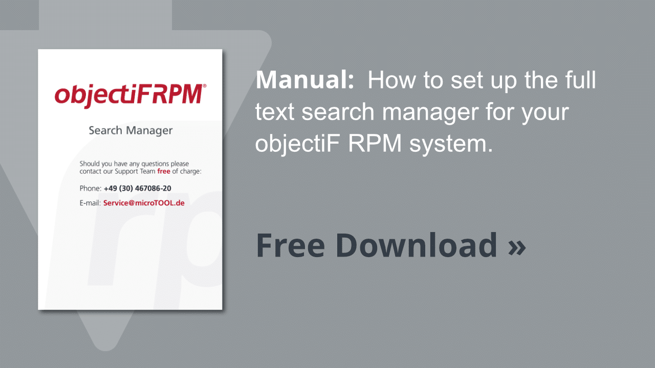 Manual objectiF RPM full text search manager
