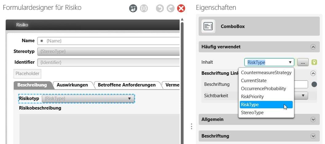 objectiF RPM: Combox im Formular