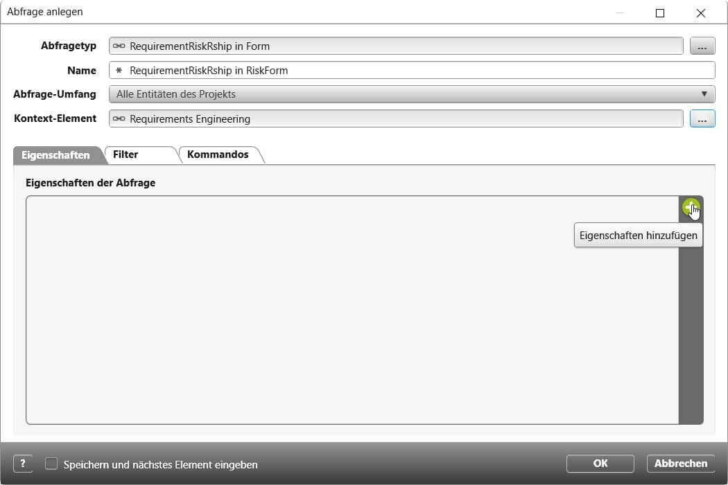 objectiF RPM: Eigenschaften hinzufügen