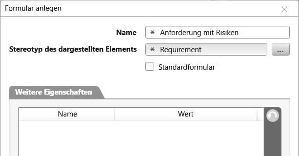 objectiF RPM: Tooleigenes Formular anlegen