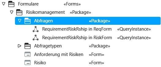 objectiF RPM: Neue Abfrage definieren