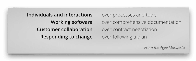 From the Agile Manifesto