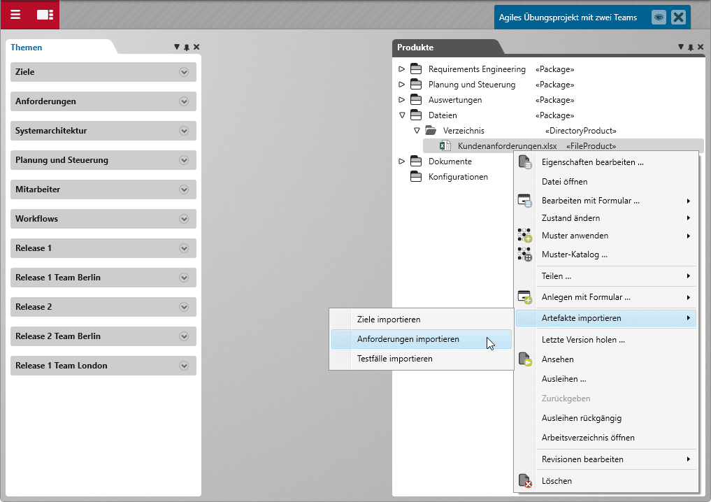 Ergebnisse von Stakeholdern ohne Zugriffsberechtigung auf objectiF RPM einbeziehen? Kein Problem zum Beispiel per MS Excel Export/Import.