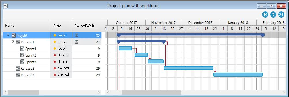 in-STEP BLUE 6.2 Gantt-Chart