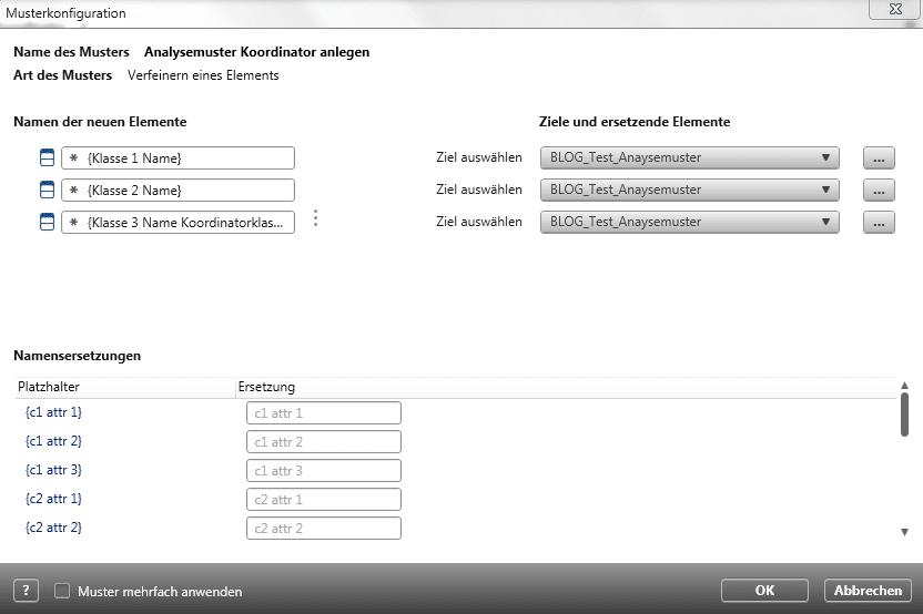 Musterkonfiguration in objectiF RPM