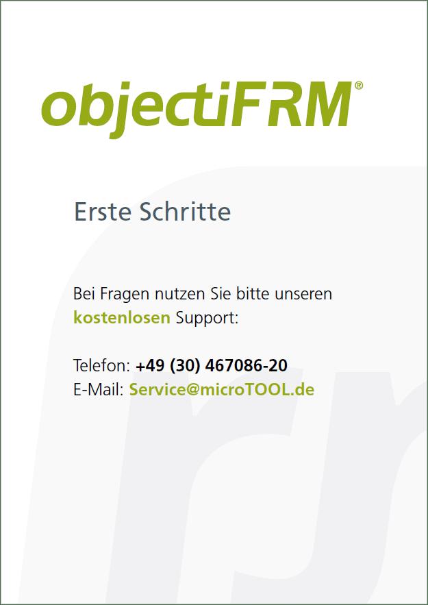 Titelblatt objectiF RM Erste Schritte