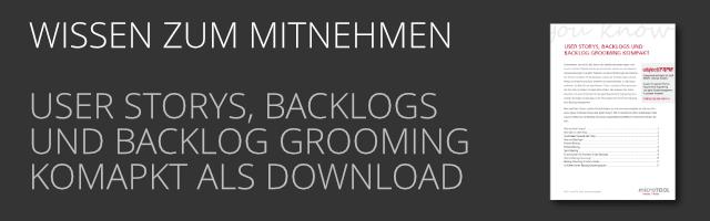 DE User Storys, Backlogs als PDF Download