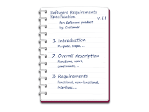 Knowledge Base: What is a Software Requirements Specification?