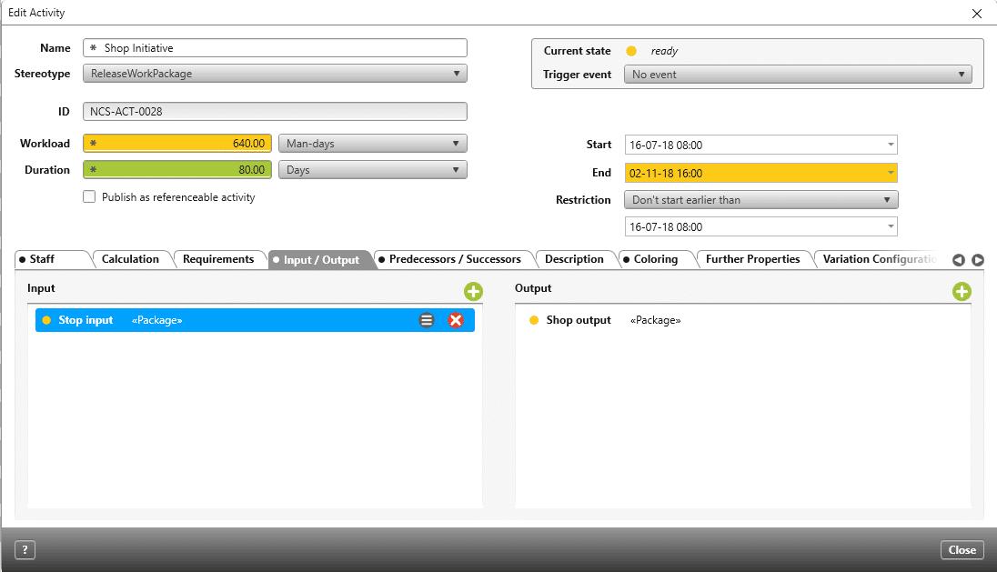 Shop Input Output