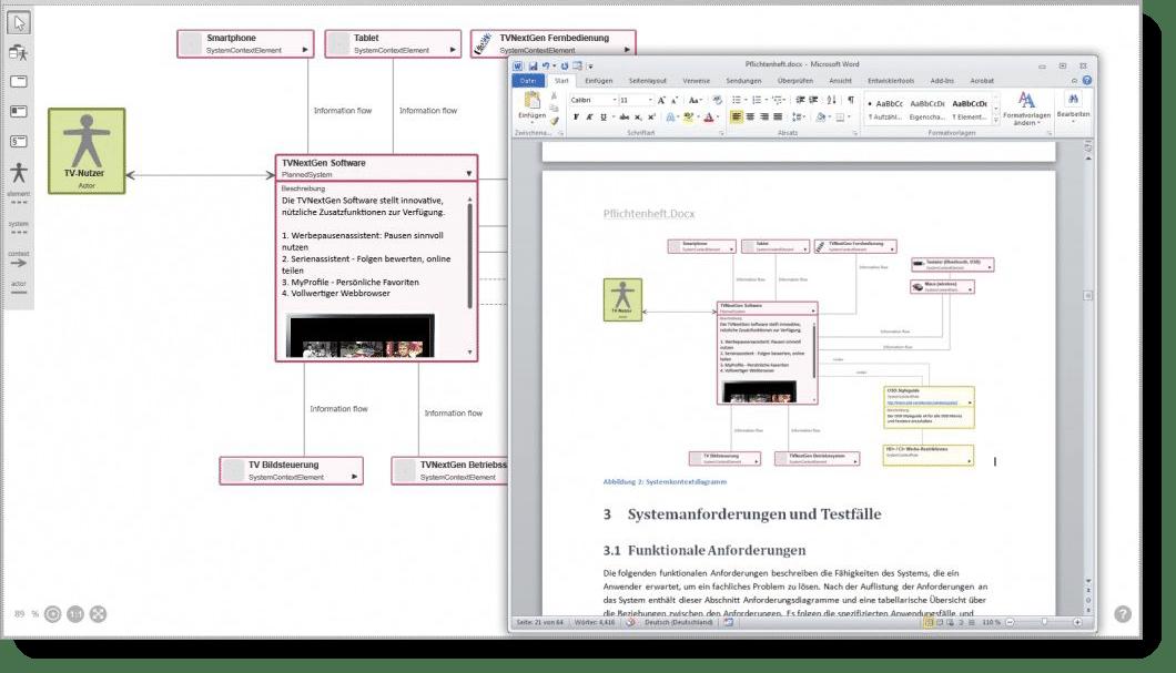 objectiF RPM: Pflichtenheft als MS Word-Datei