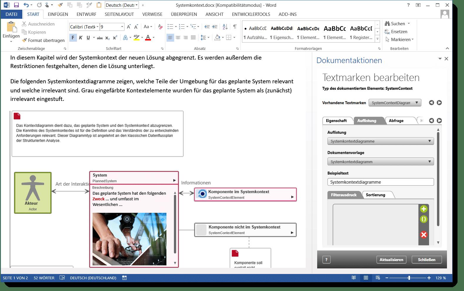 objectiF RPM: Dokumentengenerierung nach MS Word