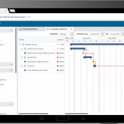 Gantt-Chart der in-STEP BLUE WebApp
