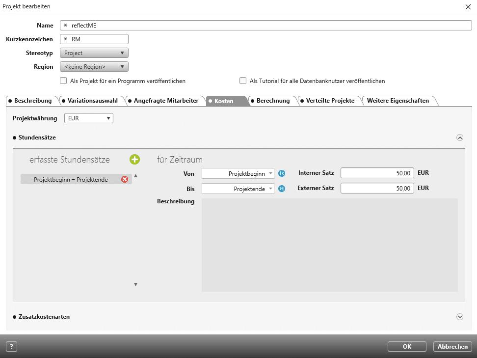 Projektplanung von Studensätzen mit objectiF RPM