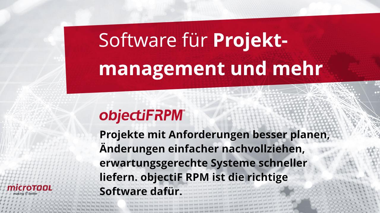 objectiF RPM: Die Software für Projektmanagement und mehr
