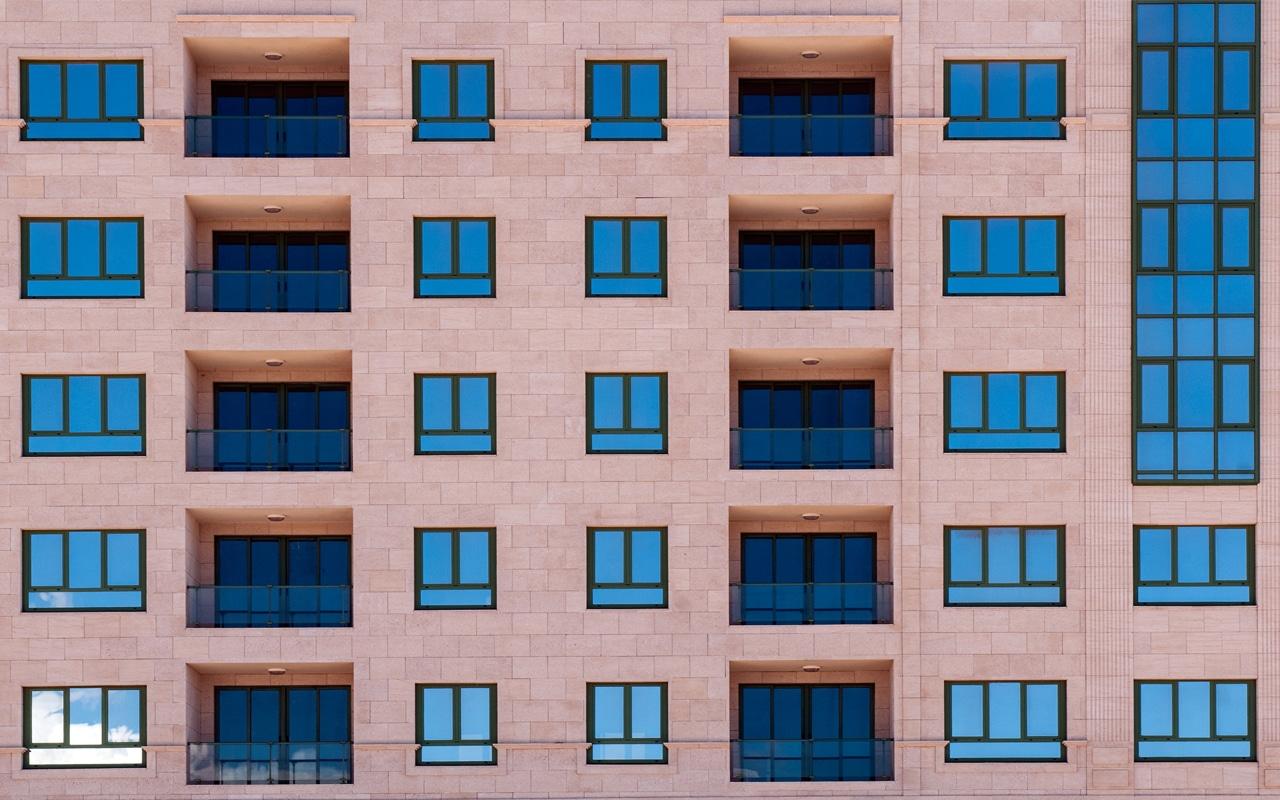 Haus mit Muster