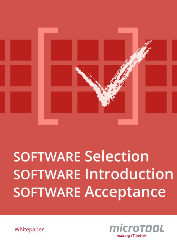 Whitepaper software selection, introduction, acceptance