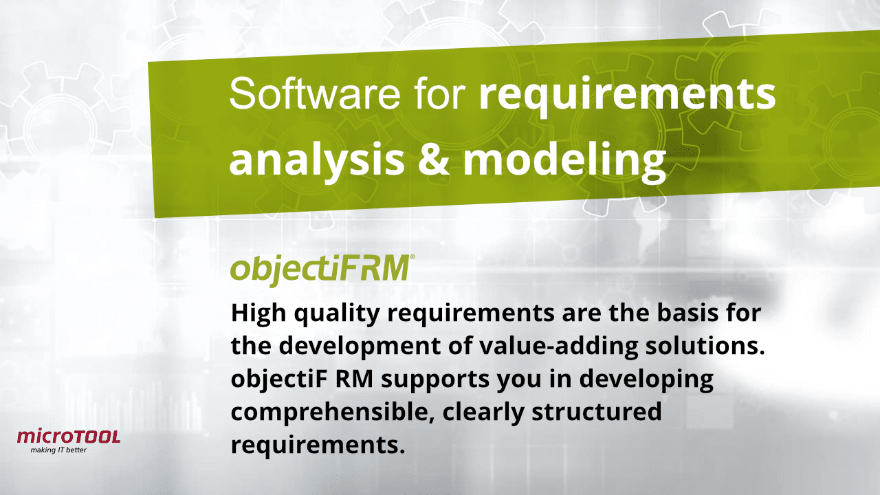 objectiF RM software for requirements analysis and modeling