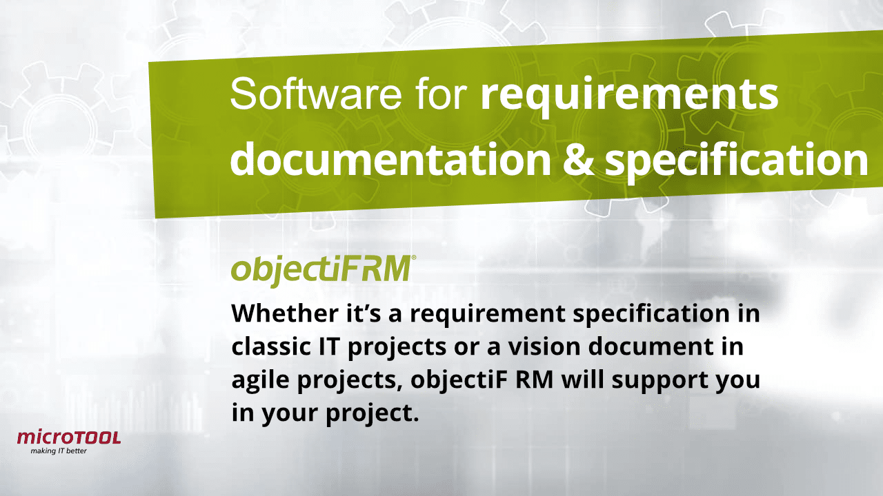 objectiF RM requirements documentation and specification