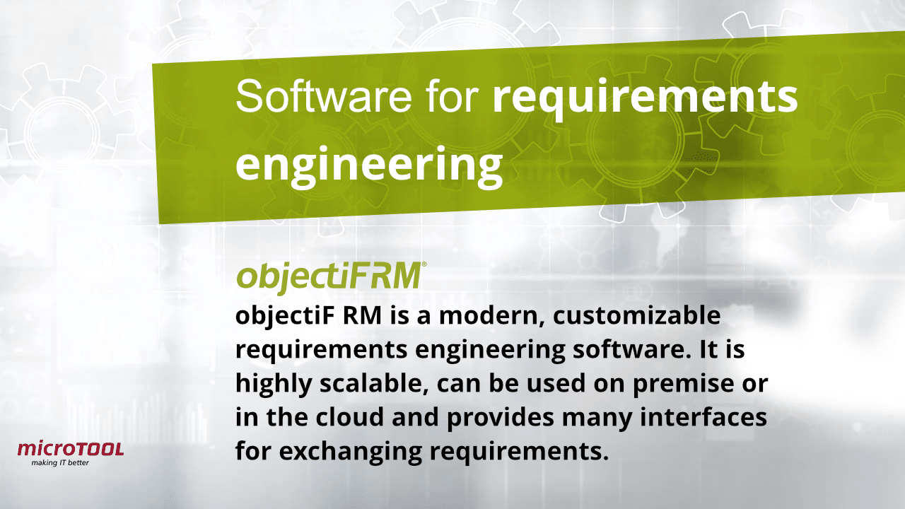 objectiF RM Requirements Engineering Software
