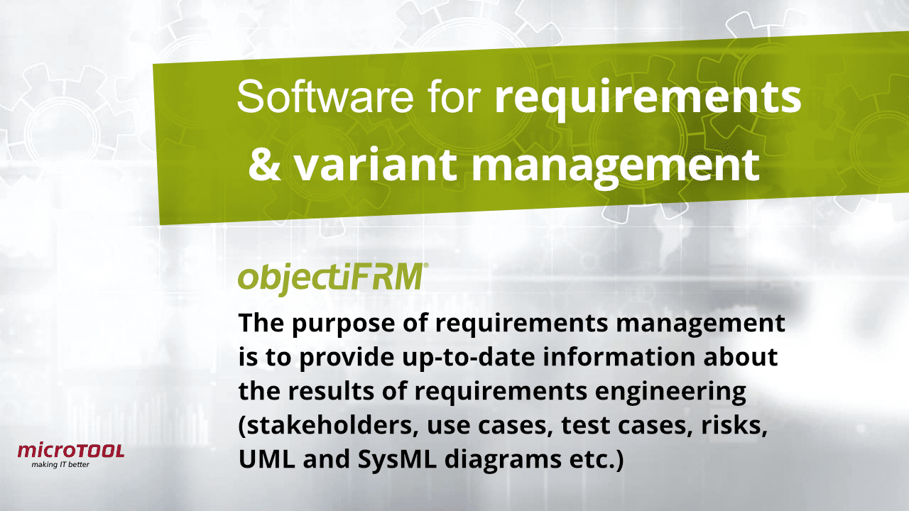 objectiF RM software for requirements management