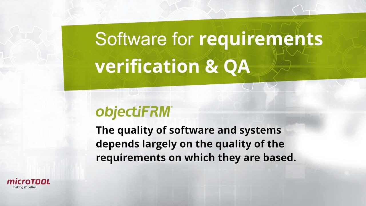 objectiF RM requirements verification