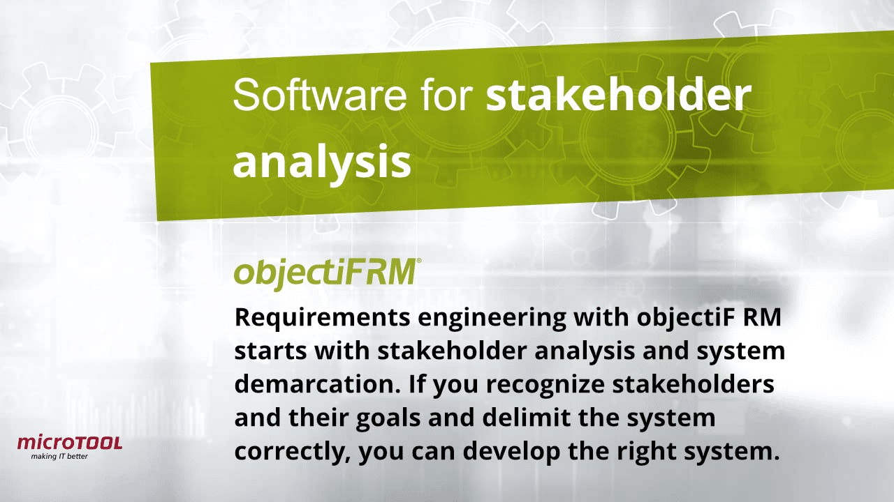 objectiF RM software for stakeholder analysis