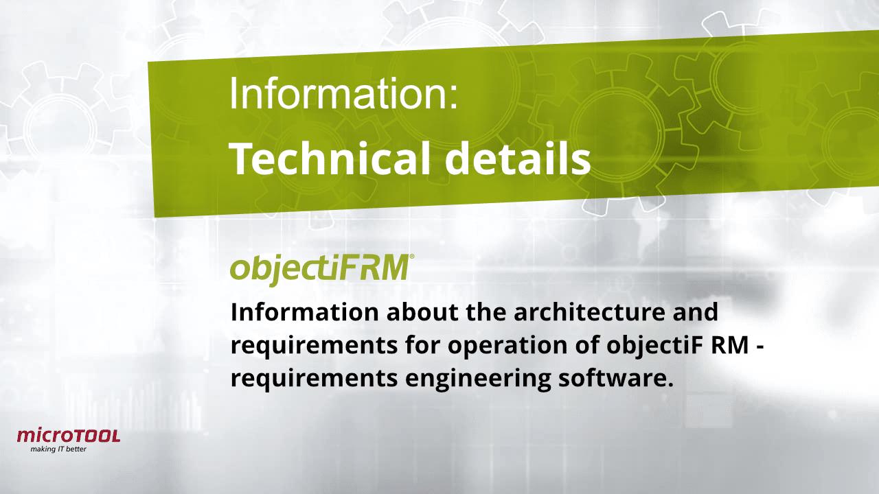 objectiF RM technical details