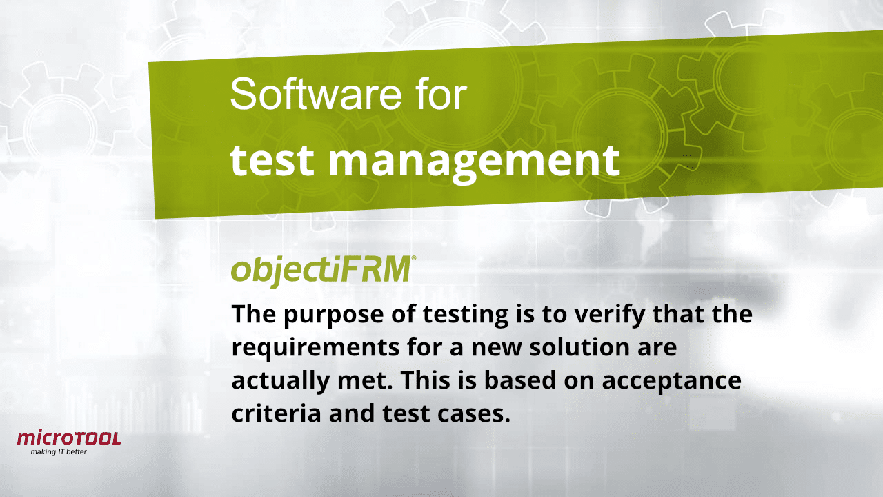 objectiF RM test management software