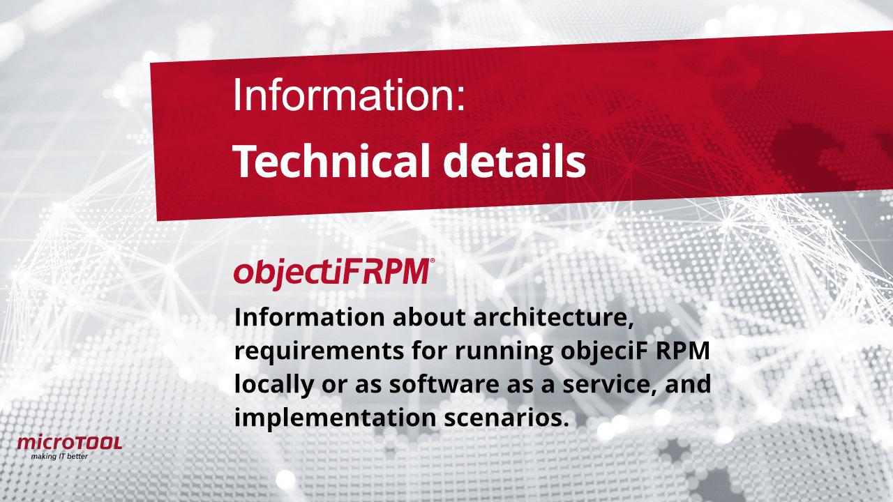 objectiF RPM technical detaiols