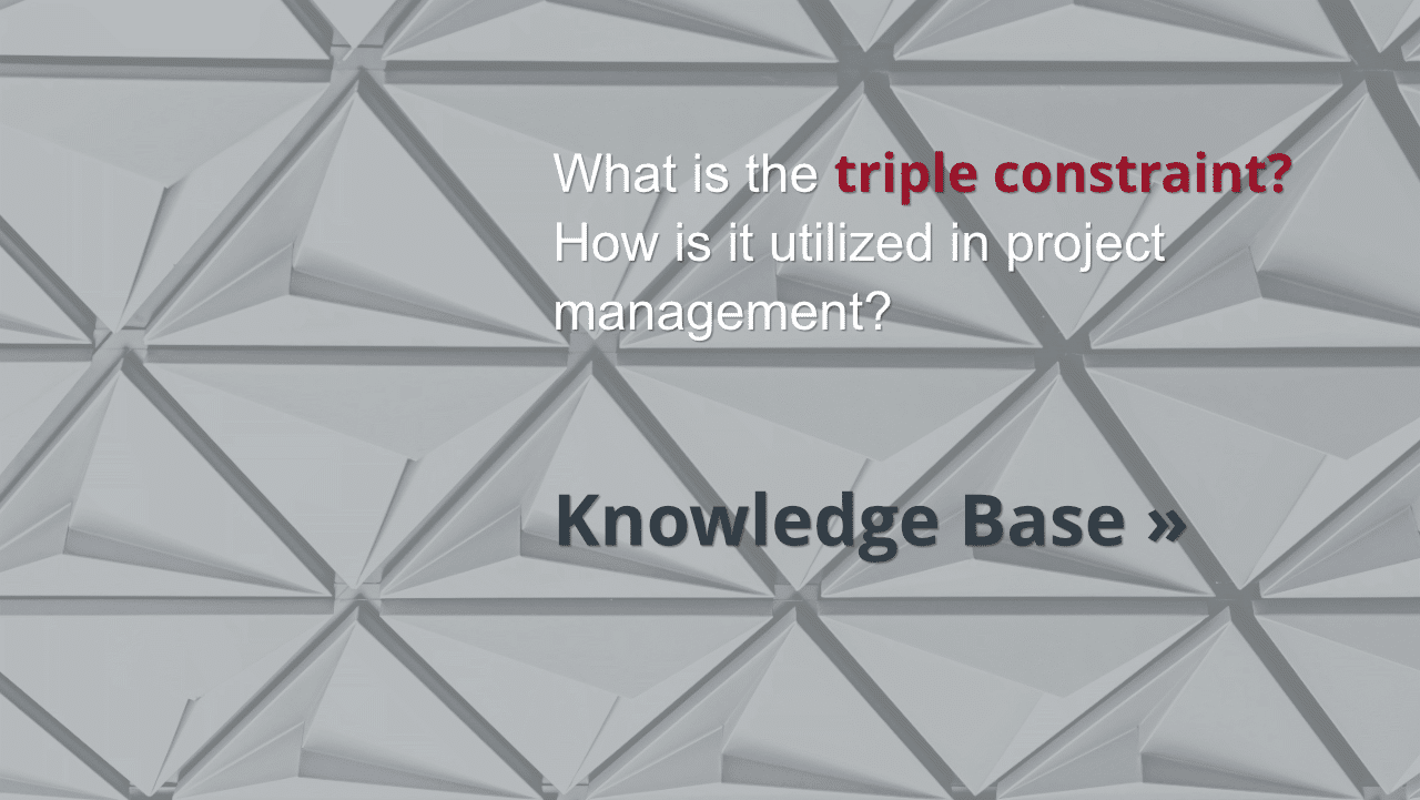 What is the triple constraint?