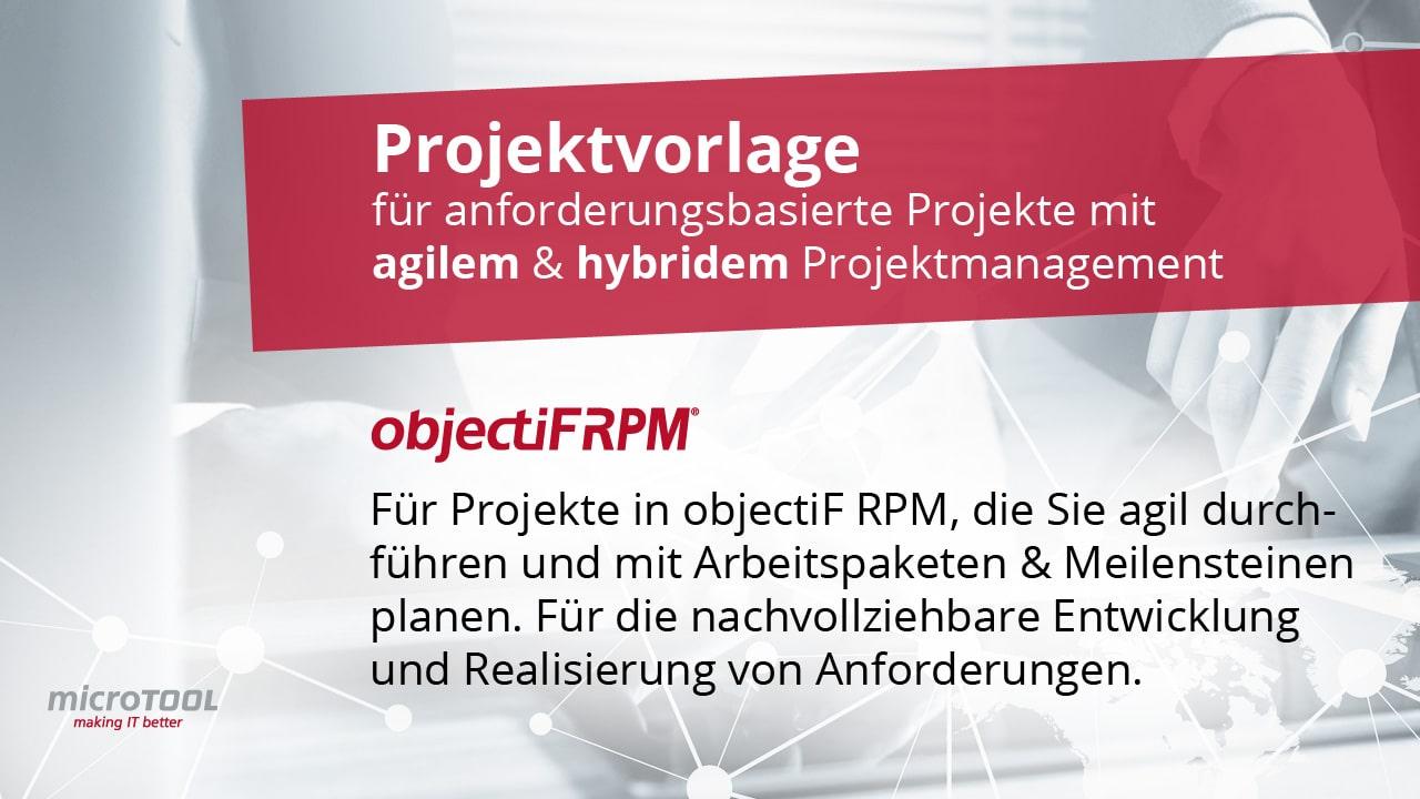 Projektvorlage für agiles & hybrides Projektmanagement in anforderungsbasierten Projekten