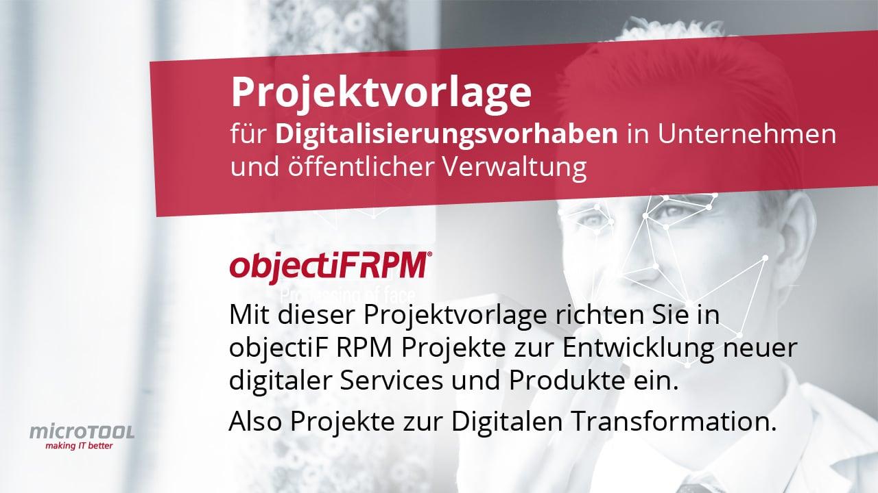 Projektvorlage für Digitalisierungsvorhaben