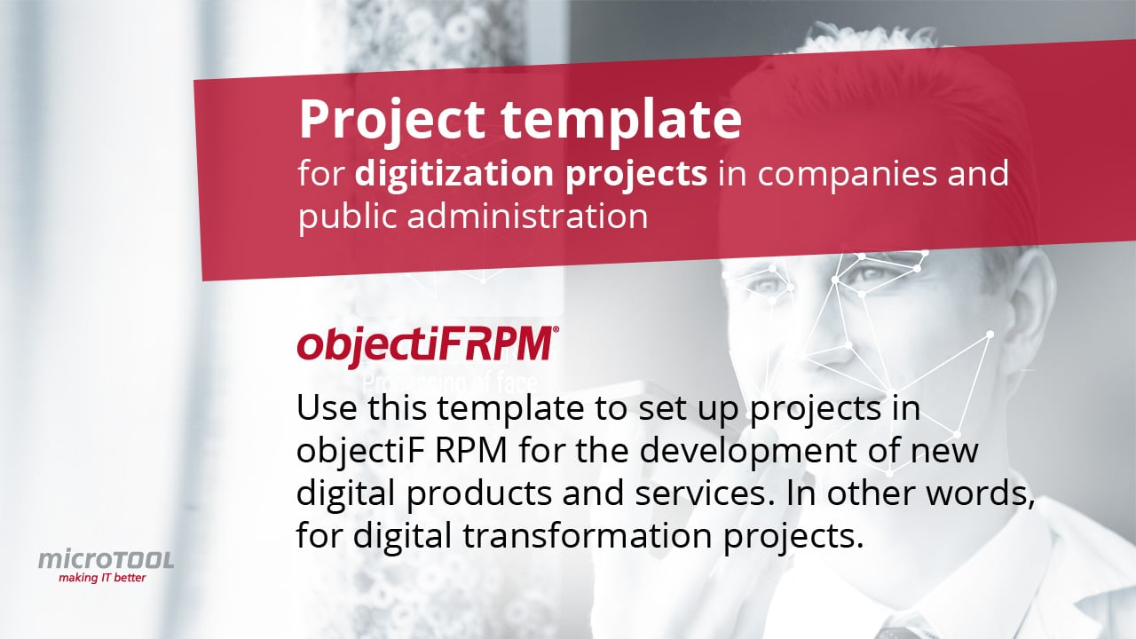 Project template for digitization projects