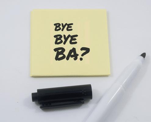 Bye Bye BA - Brauchen wir in Zeiten der Agilität noch Business Analyse?